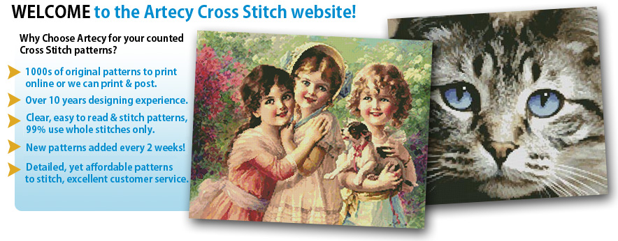 Welcome to the best value Cross Stitch Website!