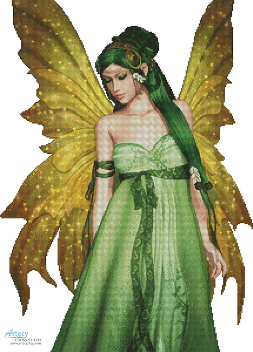 Artecy Cross Stitch Fairy Of The Forest No Background